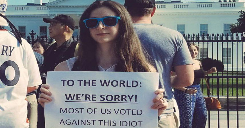 The 30 Funniest Anti-Trump Protest Signs