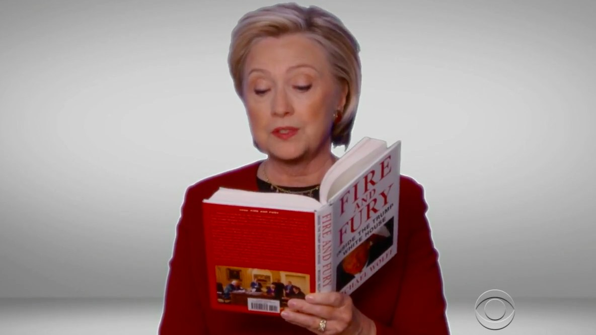 Hillary Clinton Roasts Trump at the Grammys by Reading 'Fire and Fury'