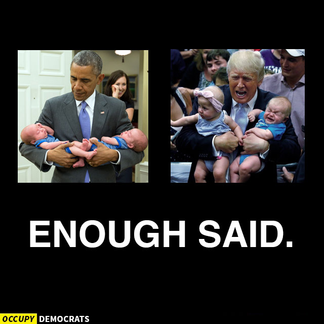 obama trump babies enough said 25 hilarious memes proving trump will never measure up to obama
