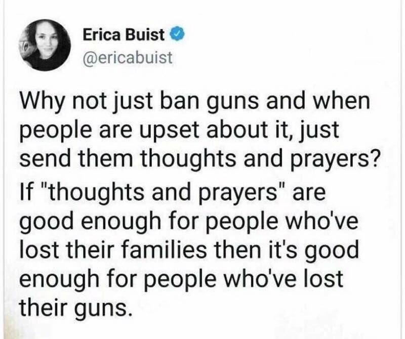 ban guns thoughts prayers 40 clever anti gun memes everyone should see the political punchline