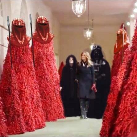 20 Hilarious Memes Mocking Melania Trump S Blood Red Christmas Trees