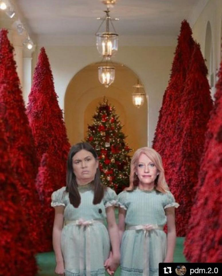 20 Hilarious Memes Mocking Melania Trump's Blood-Red Christmas Trees