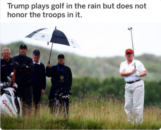 15 Brutally Hilarious Memes Mocking Trump for Skipping a Ceremony to Honor WWI Soldiers Due to Rain